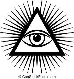 third eye - vector third eye sign