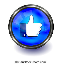 Vector thumb up button. Easy to edit