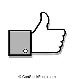 Vector thumb up