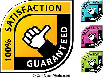 vector thumb up satisfaction guaranteed labels