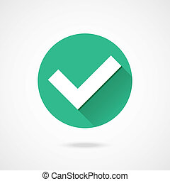 vector, tick, pictogram