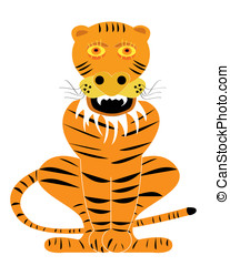 vector tiger cartoon