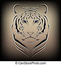 Vector tiger - Illustration of a vector tiger, a wild cat