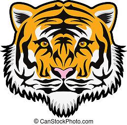 vector  tiger face