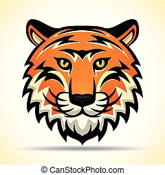 Vector tiger head graphic design