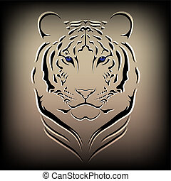 Vector tiger - Illustration of a vector tiger, a wild cat