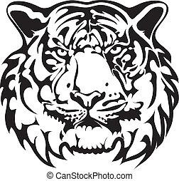 Vector - tiger tattoo