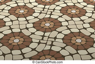vector tile mosaic floor