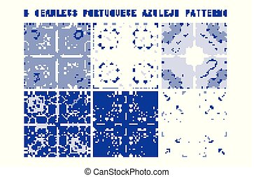 Vector tile pattern, Lisbon floral mosaic, Mediterranean...