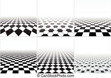Vector tiled floor.