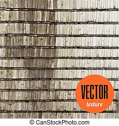 Vector tiles of shingle roof texture grunge background
