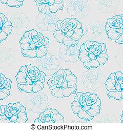 Vector tiling floral pattern