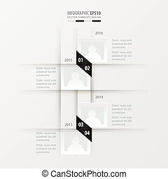 vector timeline design black and white color