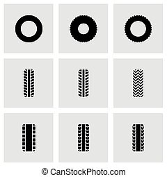 Vector tire icon set
