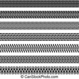 vector  tire prints