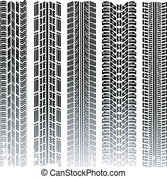 Vector tire tracks collection