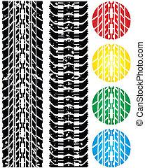 Vector tire tracks