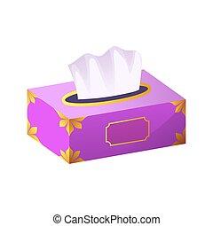 vector Tissue box flat icon. dry napkin box vector icon