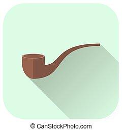 Vector tobacco pipe icon.