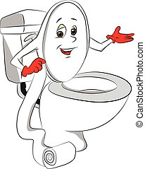 Vector toilet bowl. - Vector illustration of toilet bowl's...