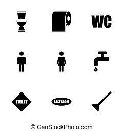 Vector toilet icon set