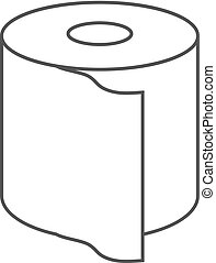 Vector Toilet Paper Icon Isolated on White Background.