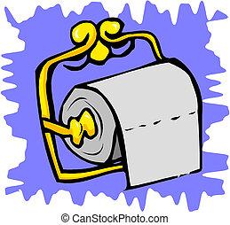 vector toilet paper on holder