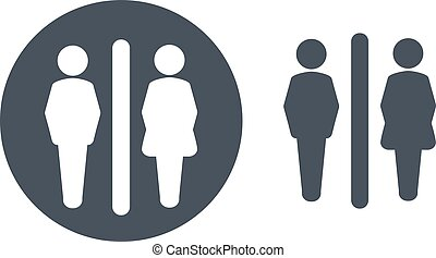 Vector toilet symbols isolated on white background