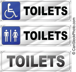 Vector toilets design signs