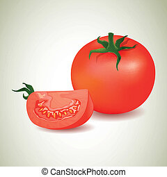 Vector Tomatos - Vector Illustration of Tomatos