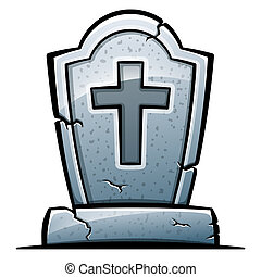 Vector tombstone on white background