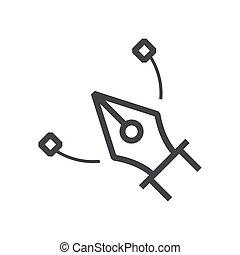 Vector tool icon line