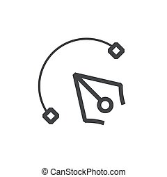 Vector tool  line icon