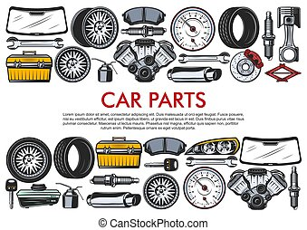 Vector tools and car spare parts