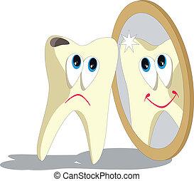 Tooth cartoon set 006