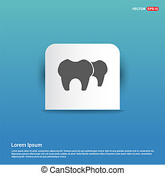 Vector Tooth Icon - Blue Sticker button