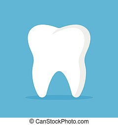Vector tooth icon. White tooth. Vector illustration