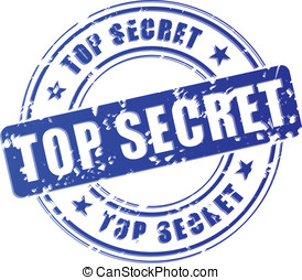 Vector top secret blue stamp