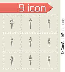 Vector torch icon set