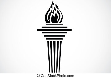 Iconic torch illustration. Easy to scale to any size.