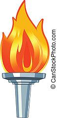 Vector Torch - Stock Vector Illustration:Stock Vector ...
