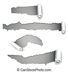 Vector Torn Paper - Vector Illustration of Torn Paper