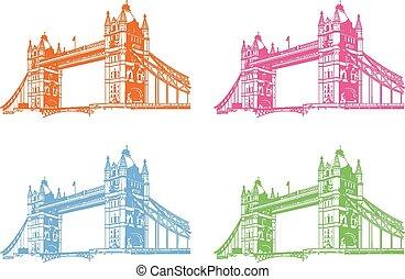 vector, torre, bridge.