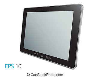 touch screen - Vector touch screen tablet computer with...