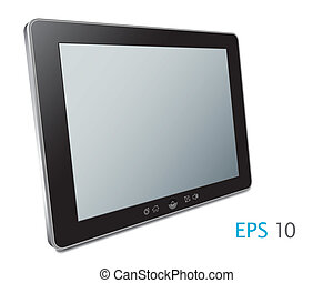 Vector Touch screen tablet computer with blank screen...