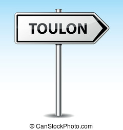 Vector toulon directional sign - Vector illustration of...