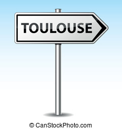 Vector toulouse directional sign - Vector illustration of...