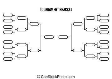Vector tournament bracket templates for sixteen teams.
