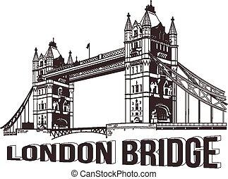 Vector tower bridge