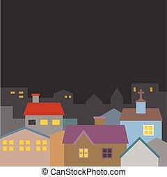 Vector town illustration